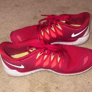 Pink Nike Free 5.0